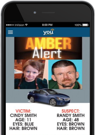 Government Amber Alert Infographic Message