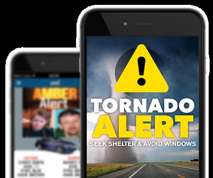 Tornado Infographic Alert Message