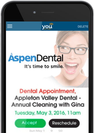 YOU Appointment Infographic Message