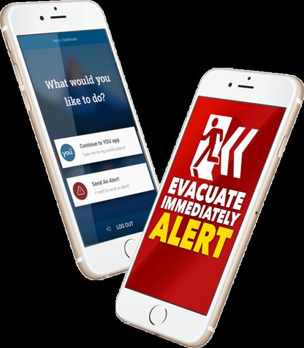 Send an Alert Phone Screens