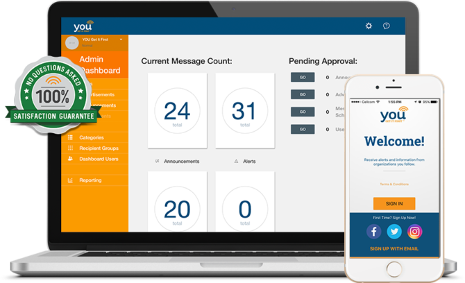 YOU Messaging System Dashboard